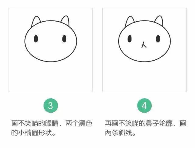 一个简单可爱的喵喵就完成了!-简笔画教程,零基础也可以学习