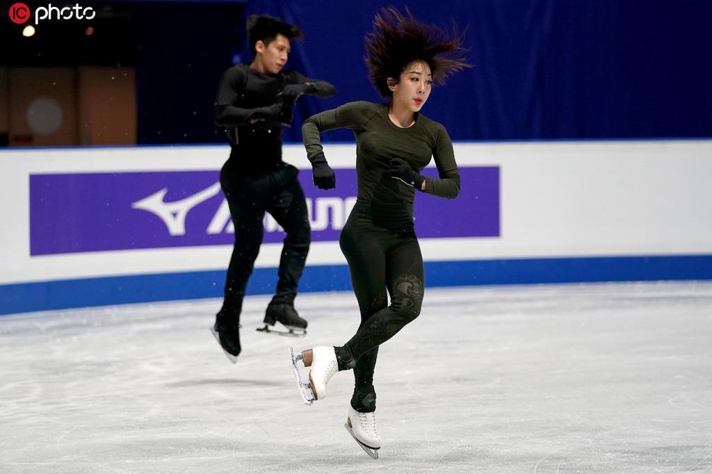 日本花滑世锦赛开放冰上训练 总教练赵宏博:大家都很
