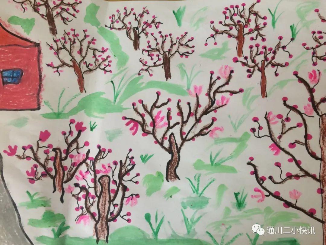 一年级春天儿童画作品图片 - 5068儿童网