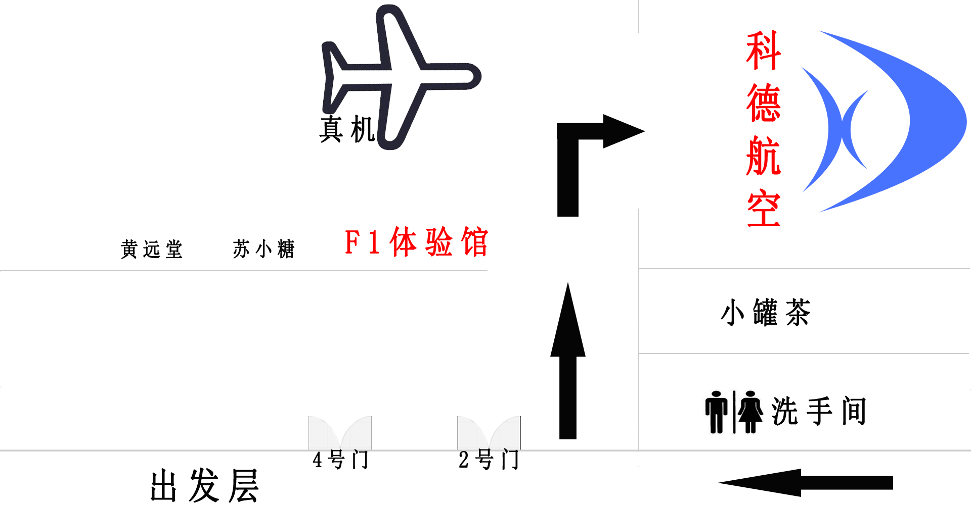 廈門飛行體驗館平面圖