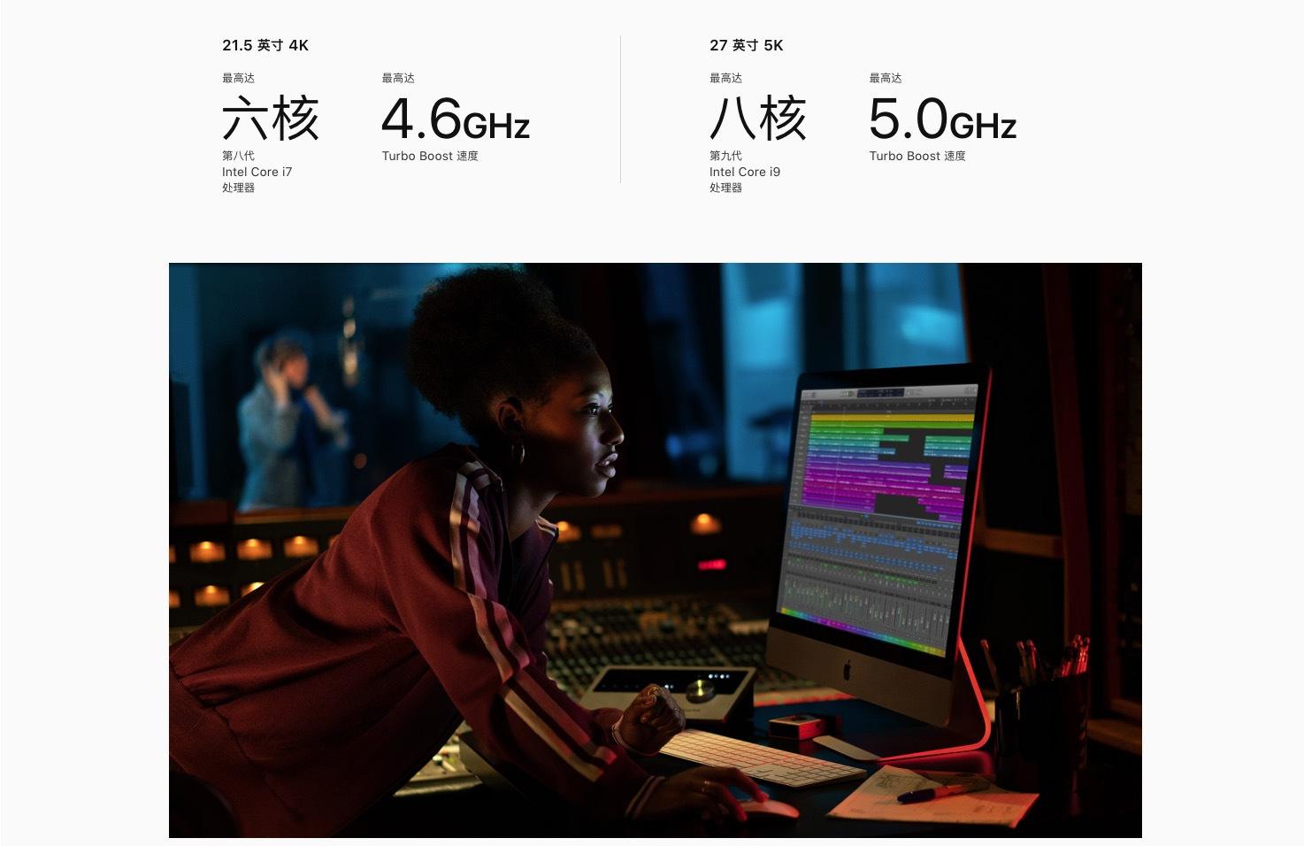 苹果新款iMac上线 配置大升级 标配视网膜屏幕 10199元起