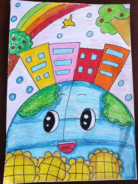 保护地球环境儿童画 小学生儿童画获奖作品欣赏_儿童画大全