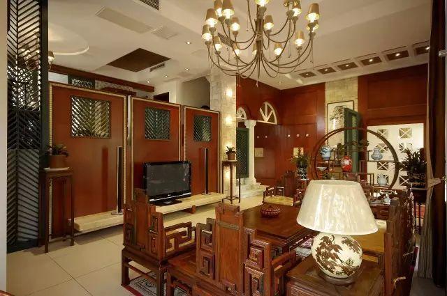 中式风格在别墅中的体现!-黑酸枝