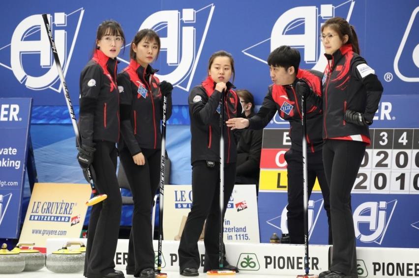 女子冰壶世锦赛:中国队