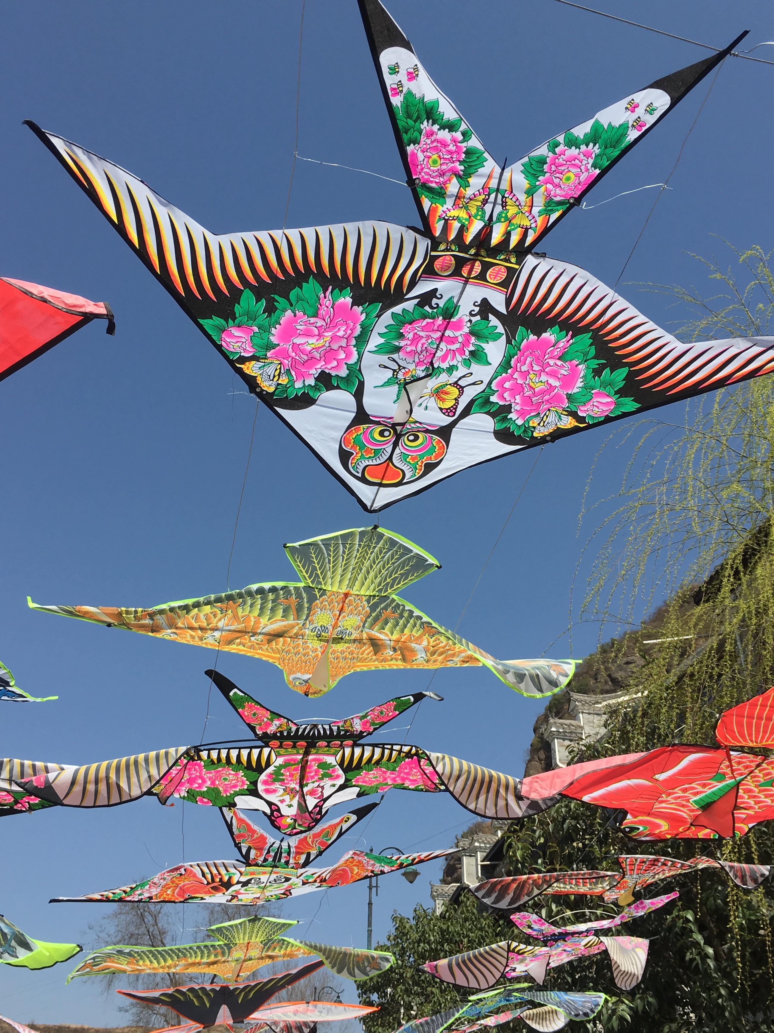 幾十種創意風箏參展,風箏筑成長廊,還有腦洞大開的風箏diy彩繪活動等圖片