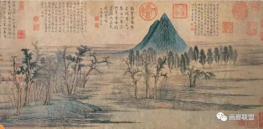 中國畫皴法識別指南 漲知識嘍~~