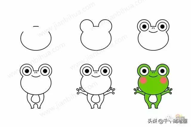 怎么画小青蛙简笔画
