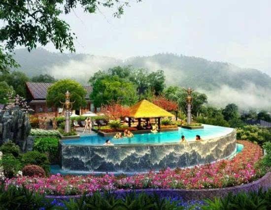 云南最适合自驾游的温泉景区风景独美我要去大自然中泡温泉!(图16)