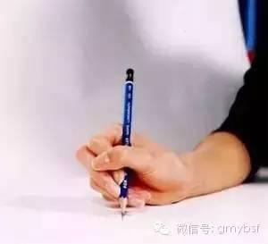 孩子正确握笔姿势