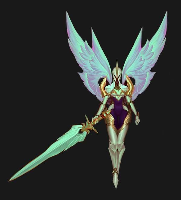 《英雄联盟》天使姐妹凯尔和莫甘娜造型、技能重做