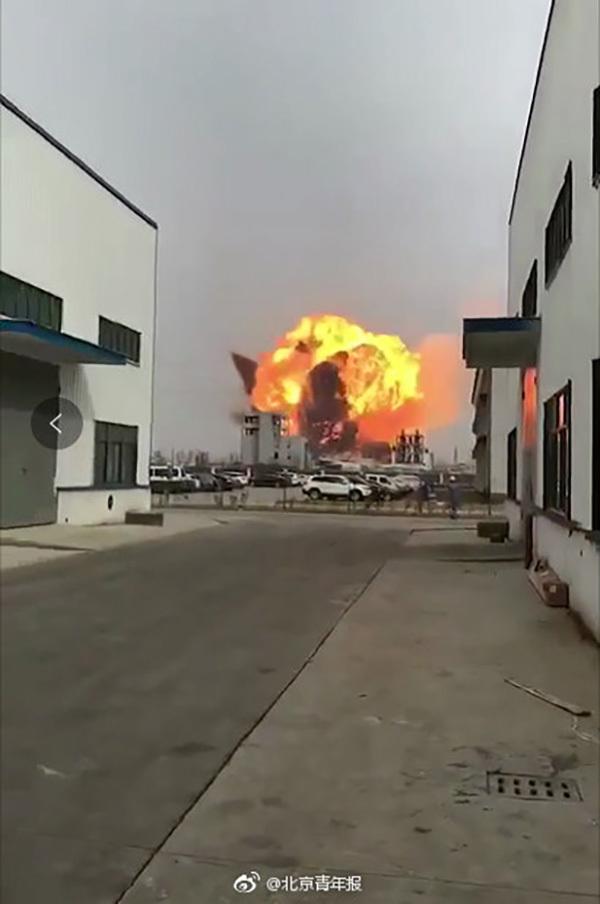 江苏盐城一化工厂爆炸 公司董事长曾因污染环境罪获刑