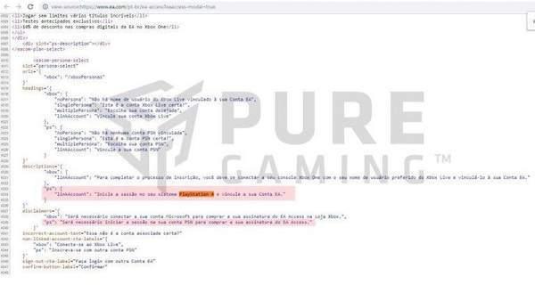 EA Access会员或登陆PS4平台网站源代码泄露信息_服务