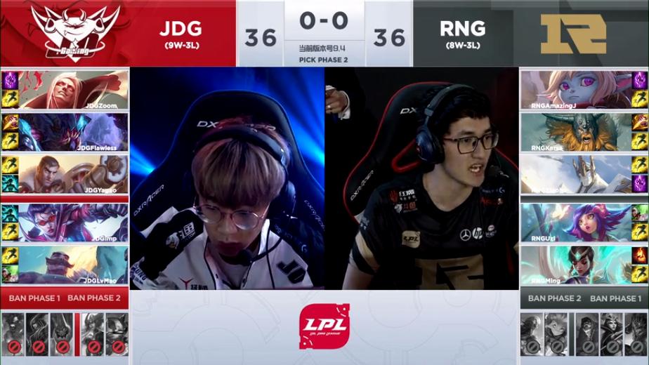 RNG双C展现2打五狂秀JDG,AJ拿进攻型英雄证明自己