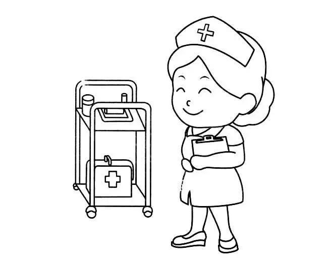 儿童简笔画 护士简笔画图片 护士人物简笔画步骤图片大全 素材之家