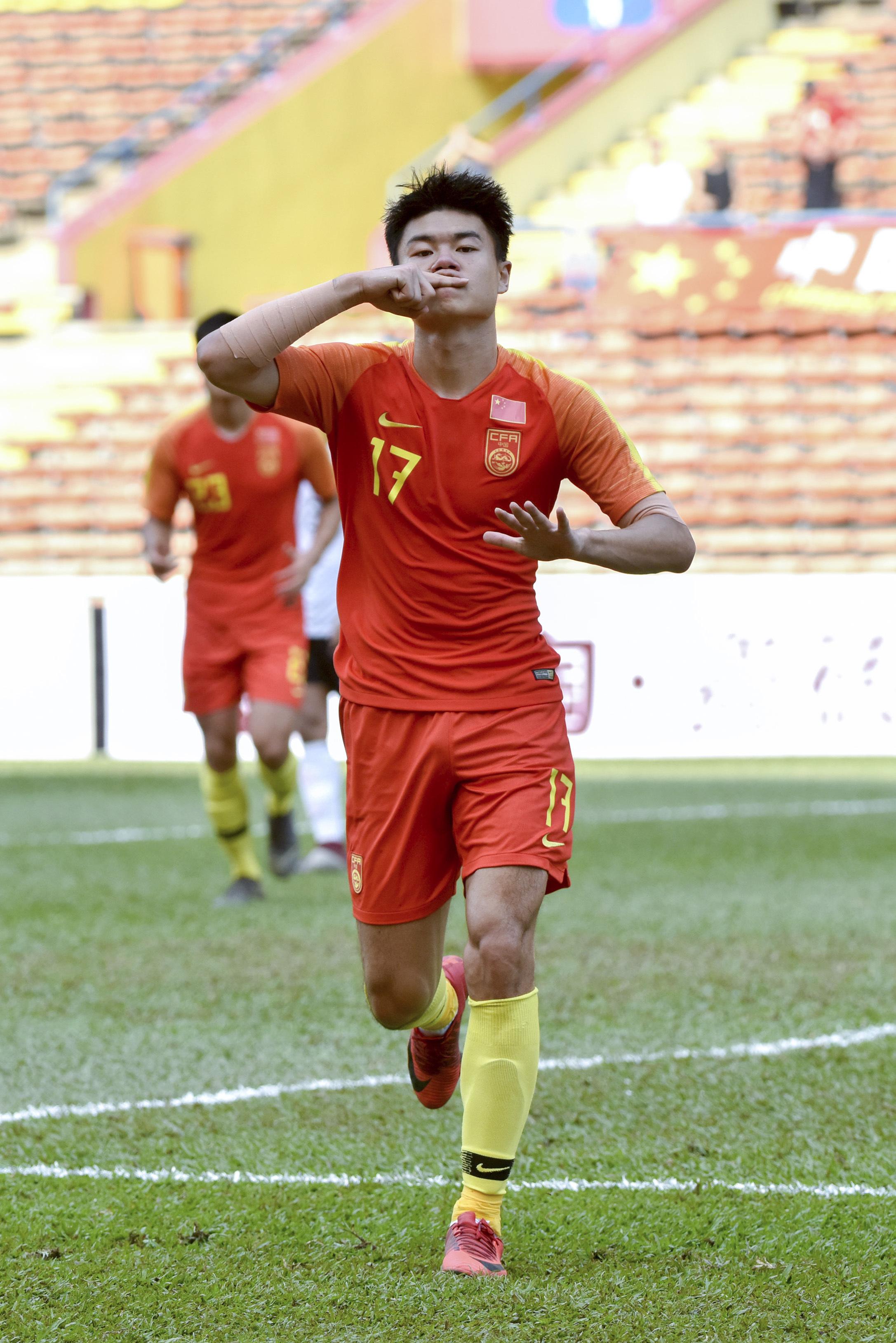 足球|U23亚锦赛预选赛:中国国奥队胜老挝队