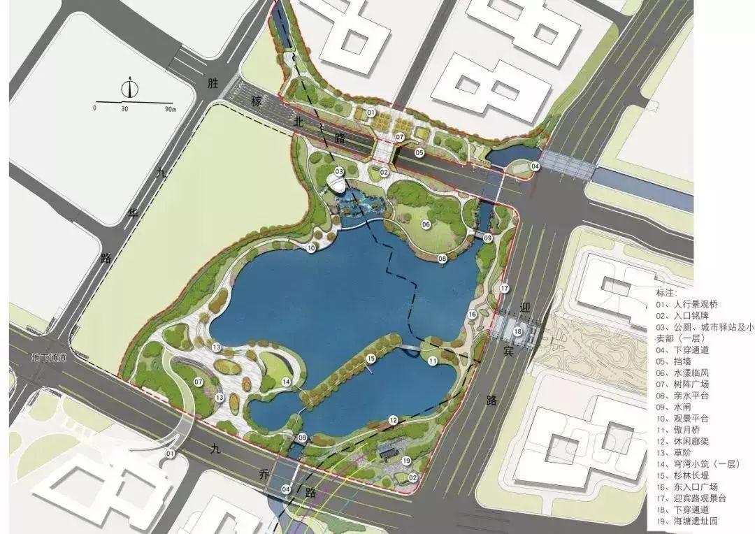 cad公园平面图图片