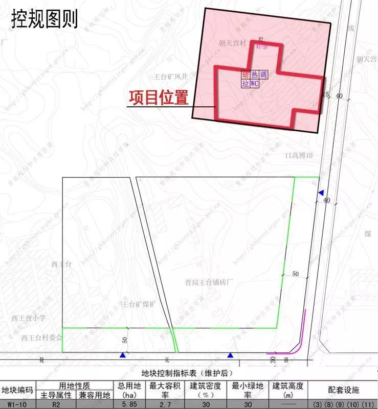 山西晋城平面图