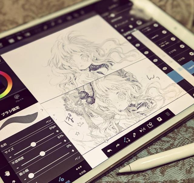 别人家的ipad 日本大触用ipad画漫画