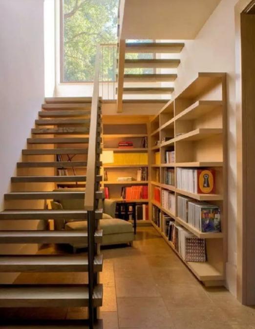 若是家里有楼梯,最好这样设计 2 1组合,直接多出一间房,实用 案例