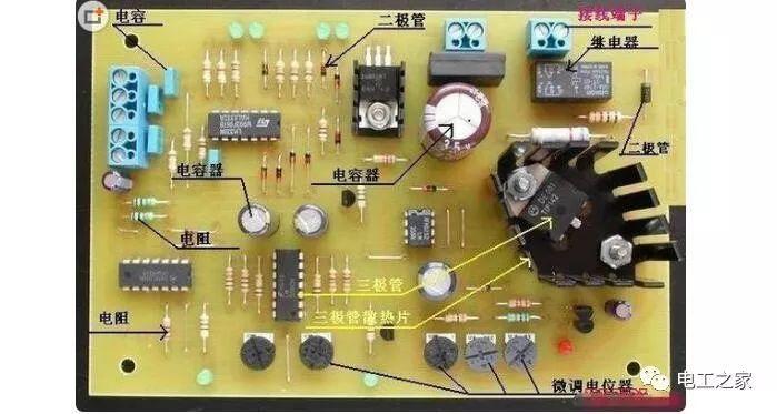 电路板的工作原理 - 电路板为什么是绿色的_电路板上的元件介绍图