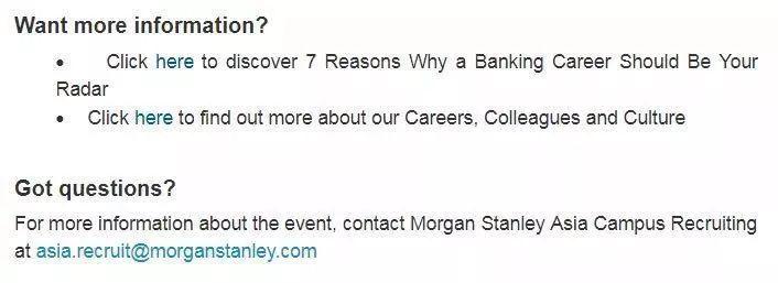 活动预告| 2019 Morgan Stanley Investment Banking Early Insights