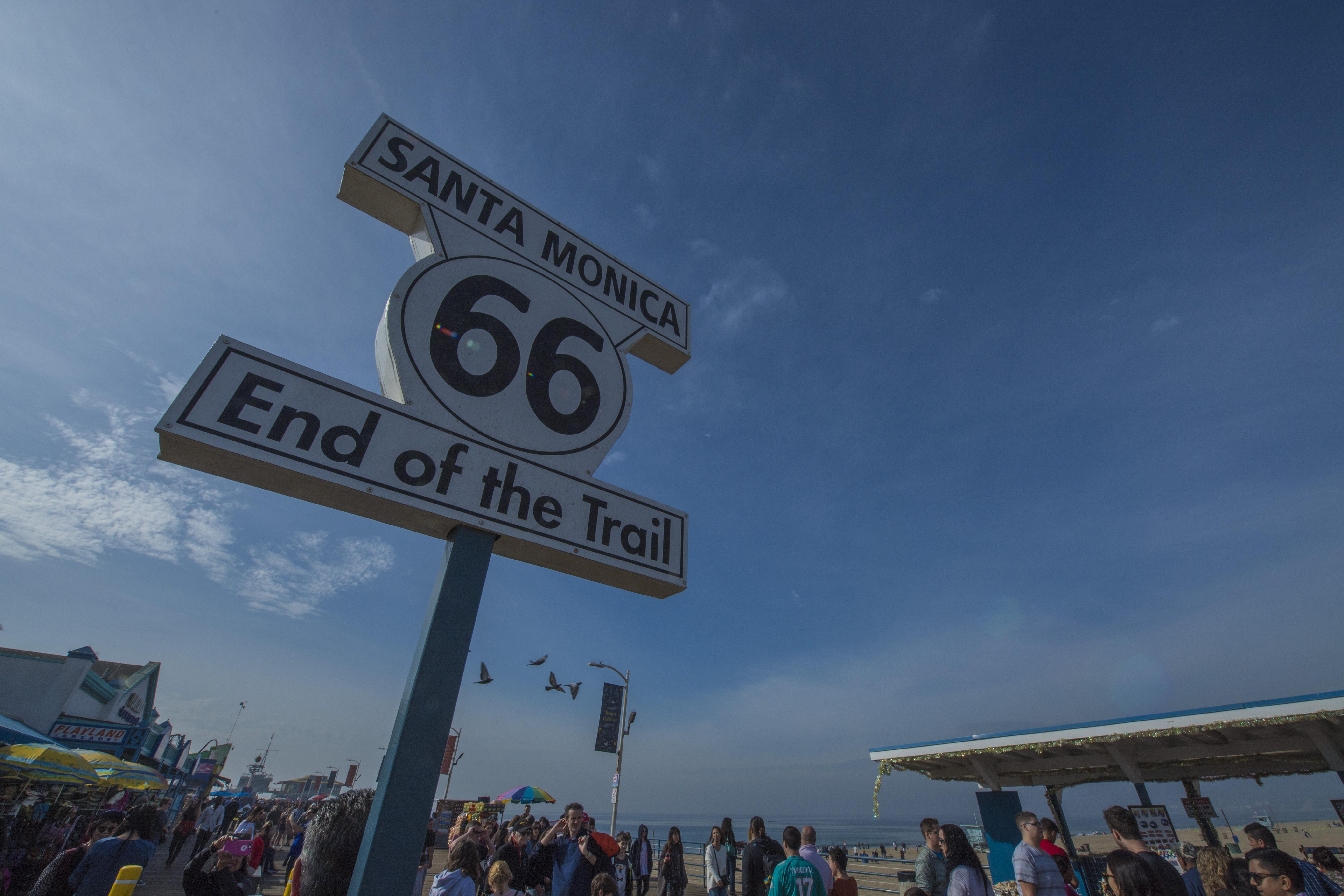 美国66号公路的终点,洛杉矶最美的圣莫妮卡海滩_圣莫尼卡