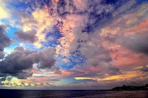 这样的天空你见过么 唯美风景图片