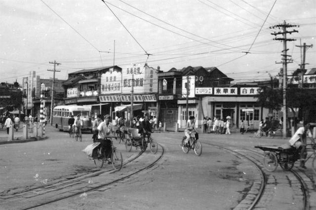 北京老照片1956年,街头巷尾城市生活