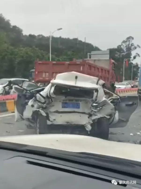 今天早上,高要世纪大道惨烈车祸!行车记录视频曝光,惨图片