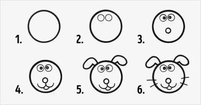 一个圆竟能画出N种小动物,手残党再也不用担心了