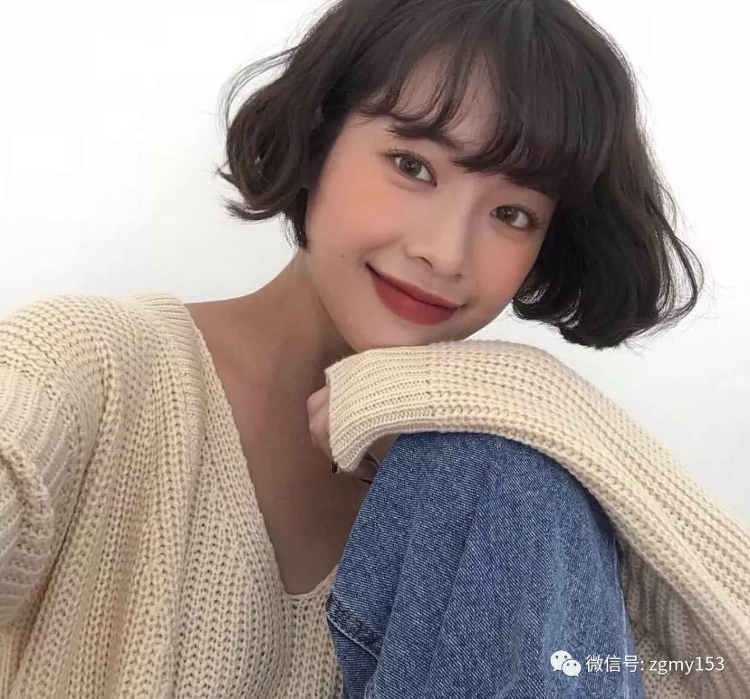 女学生空气刘海内扣发型图片_好发型手机站