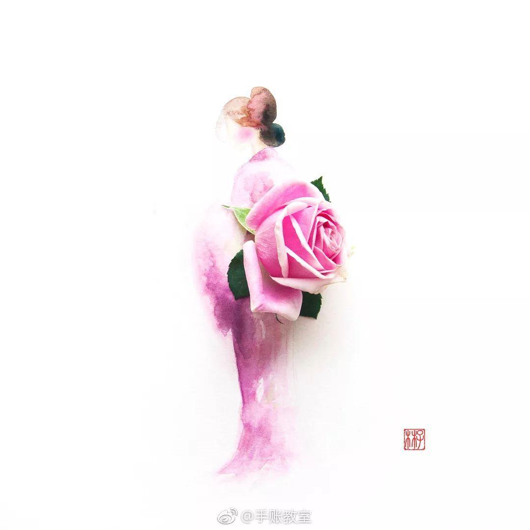 花朵裙子 创意图片