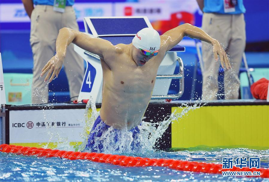 全国游泳冠军赛 孙杨男子400米自由泳夺冠