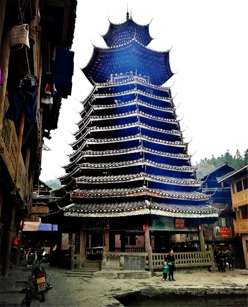 中国最古老的鼓楼,高25米300年历史,建造工艺部分已失传