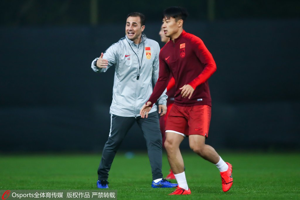 2019年中国杯国足迎战乌兹别克阵型