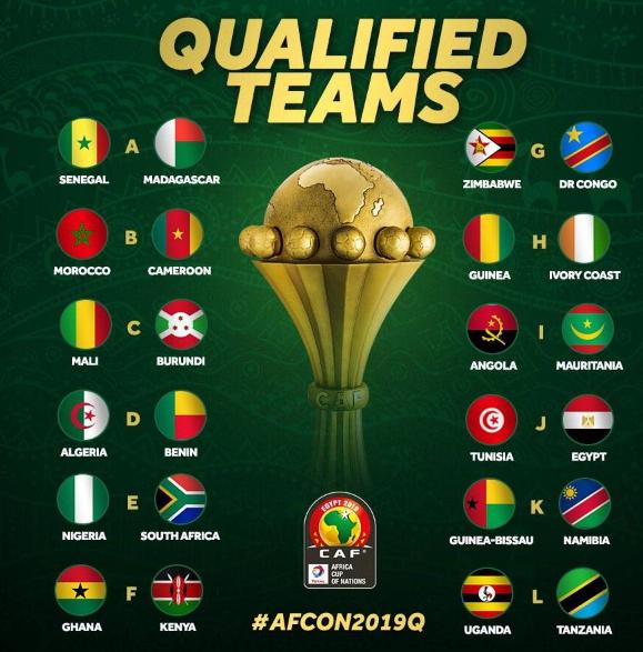 2019非洲杯24強