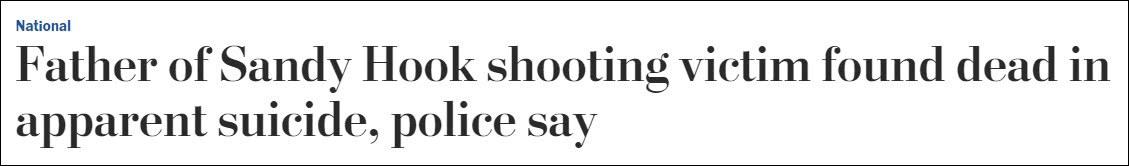 """枪击案""""后遗症"""":一周内第3位,遇害者父亲自杀"""