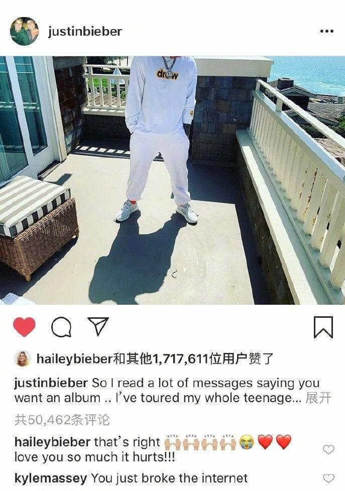 长期身心饱受折磨!Justin Bieber宣布暂停音乐事业,妻子海莉留言:没错,我爱你!