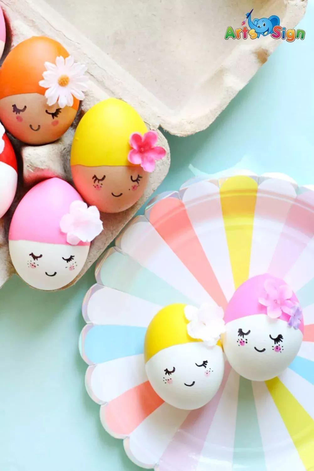 鸡蛋上画可爱表情_【艺术与生活】小画家必备的,鸡蛋艺术_气球