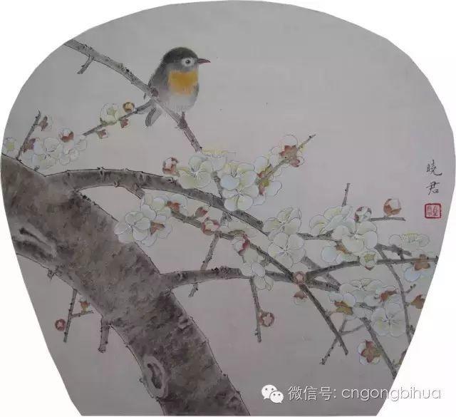 杨晓君工笔花鸟设色技法 梅花