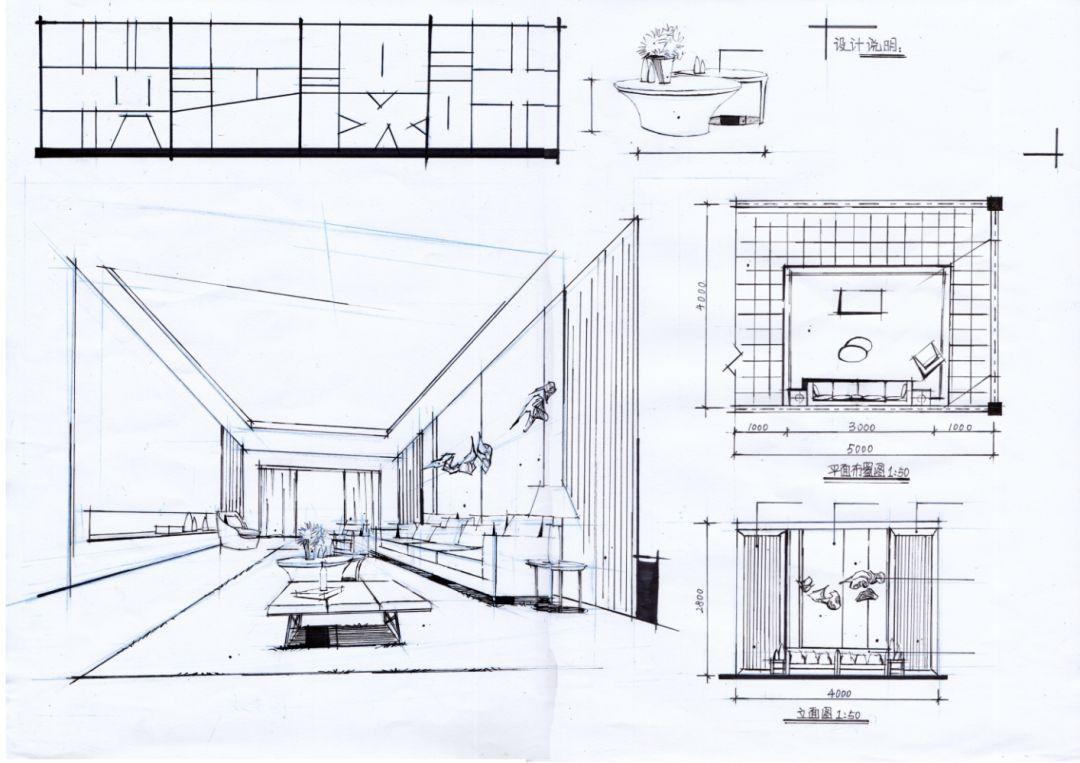 [练习]室内设计透视图中一点透视画法doc下载_爱问共享资料