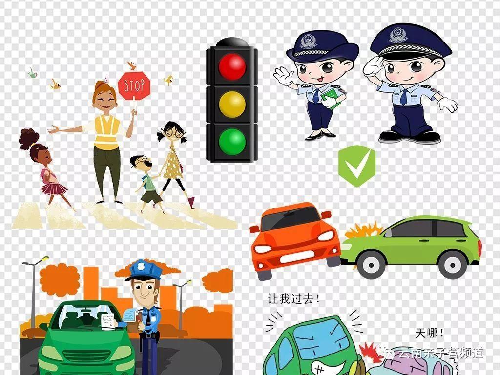 红灯停,绿灯行 交通安全很重要