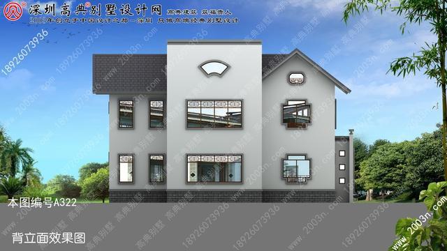 两层楼房设计图农村首层143平方米三层住宅设计图