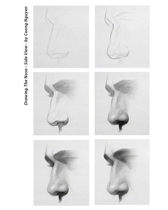 【板绘教程】如何画眼睛、鼻子与嘴唇? 教学教程-第4张
