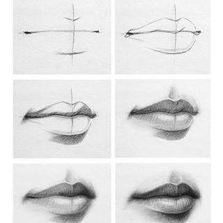 【板绘教程】如何画眼睛、鼻子与嘴唇? 教学教程-第1张