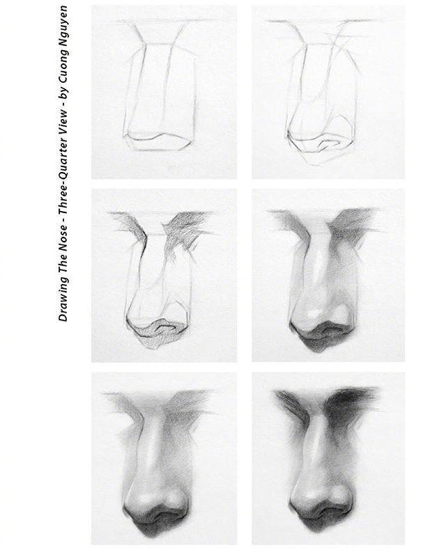 【板绘教程】如何画眼睛、鼻子与嘴唇? 教学教程-第2张