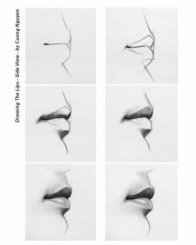 【板绘教程】如何画眼睛、鼻子与嘴唇? 教学教程-第9张