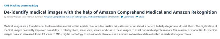 亚马逊饱受争议的AI识图工具,如今被用于简化医学图像脱敏过程(图2)