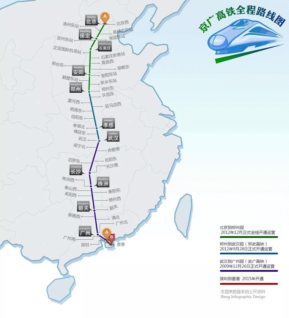 京广高铁的线路规划图片