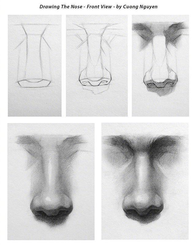 【板绘教程】如何画眼睛、鼻子与嘴唇? 教学教程-第6张